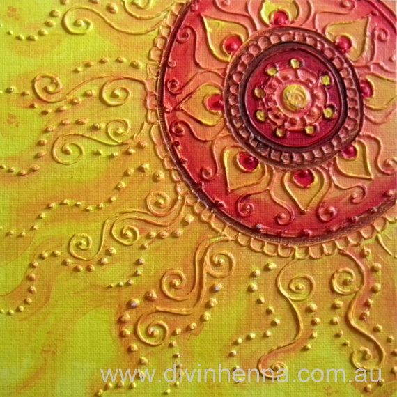 Henna Design Painting  Relief painting in sunny by DivineHenna, $24.00