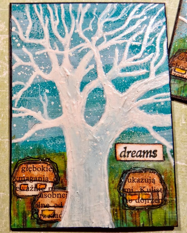 ATC artjournaling  baum tree dreams