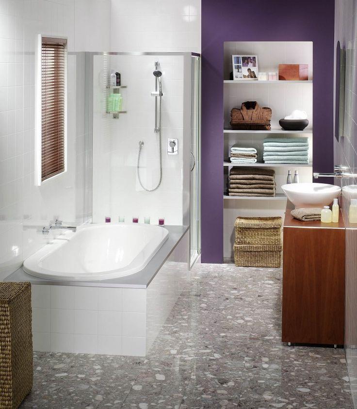 The pop of colour brings this modern bathroom to life #jameshardie #bathroominspiration #modernbathroom #smallbathroominspiration #smallbathroomlove