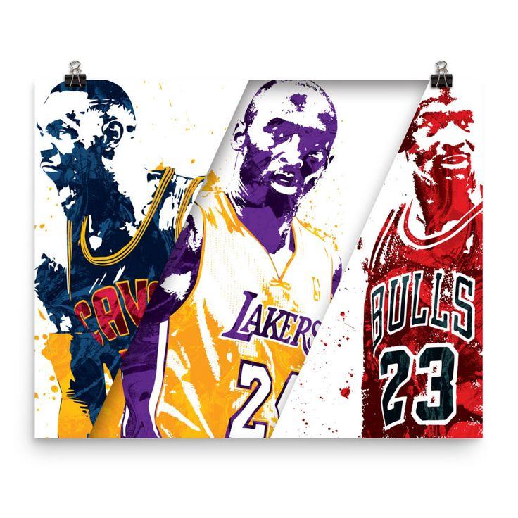 Lebron James Kobe Bryant Michael Jordan Poster Lebron James Poster Jordan Poster Sports