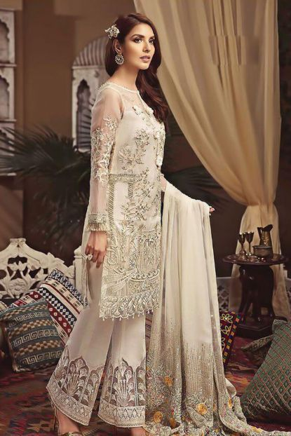 debec36bb7 Wholesale Designer Pakistani Style Net Embroidered Salwar Suit Material