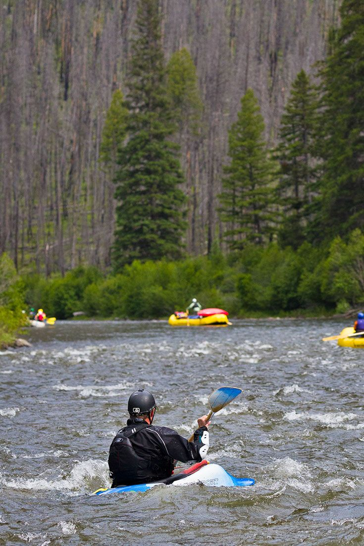 Kayaking the Middle Fork of the Salmon River in Idaho via @nwrafting