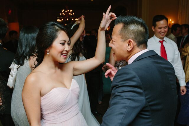Always hands in the air with myself at the helm.  Graydon Hall Manor Wedding.  Photo Mango Studios.