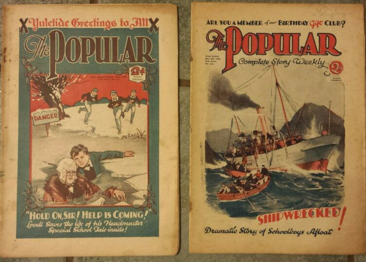 Vintage British magazine for boys 'The Popular'