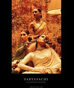 Sabyasachi. Le Club De Calcutta. Summer Campaign 2016! Cocktail Saris. Editorial ELLE India GRAZIA INDIA HELLO! India Filmfare February 2016. HandCrafted Bespoke Jewellery by Kishandas & Co. for Sabyasachi