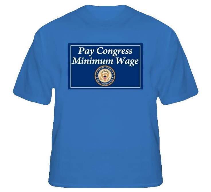 Pay Congress Minimum Wage T-Shirt. This T pretty much says it all.