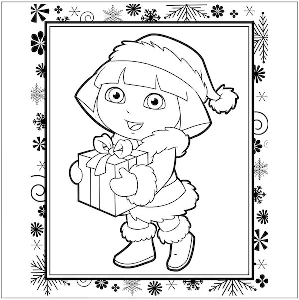 94 best Coloring Pages images on Pinterest Print coloring pages - new dora christmas coloring pages free printable