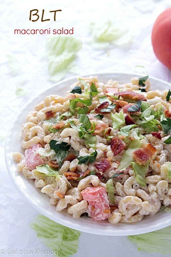 BLT Macaroni Salad - A twist on your traditional summer macaroni salad! A favorite at potlucks and BBQ'S!