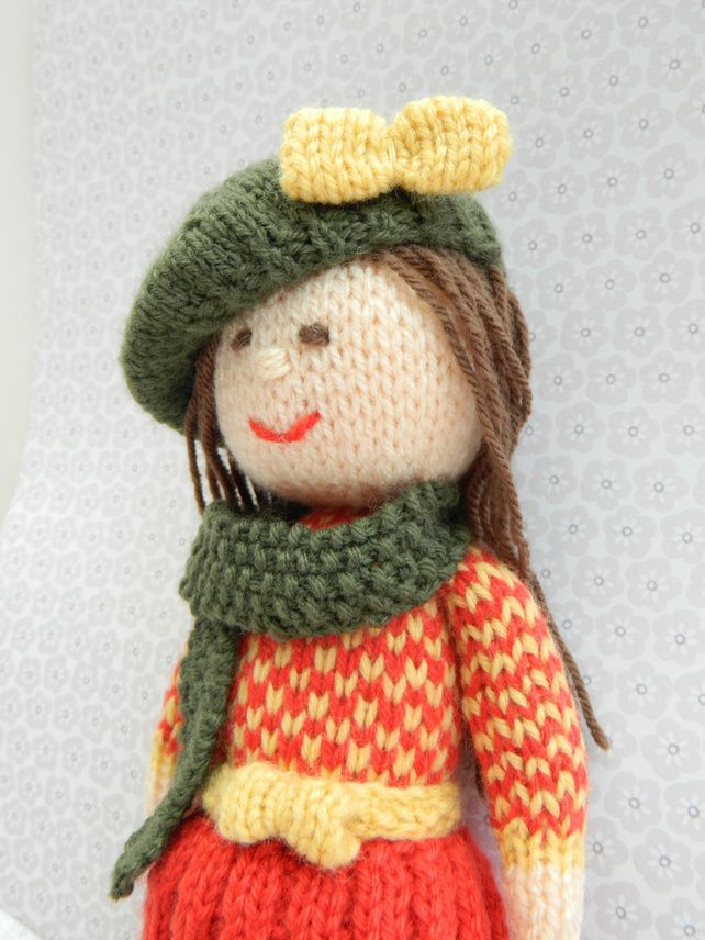 Toy Knitting Pattern - Aster - An Autumn Doll - PDF E-mail £2.50 http://folksy.com/items/3777694-Toy-Knitting-Pattern-Aster-An-Autumn-Doll-PDF-E-mail