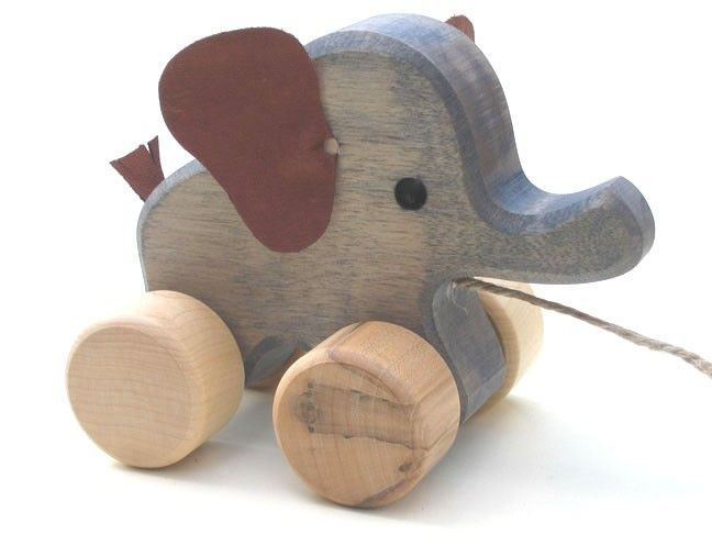 Pull Along Toys - Elephant- Handmade
