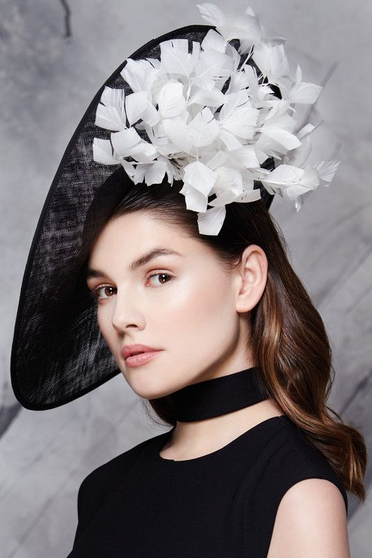Aoife Harrison Design | Black Sidesweep | Black and Wide Brim Hats | LOVEHATS.COM