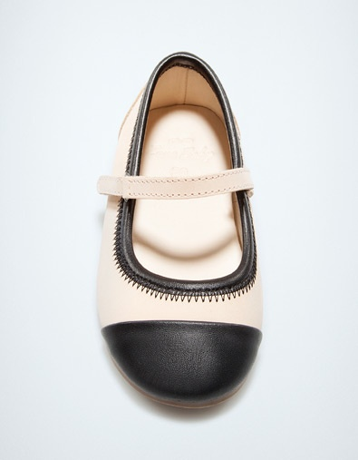 soft leather ballerina - Shoes - Baby girl (3-36 months) - Kids - ZARA United States