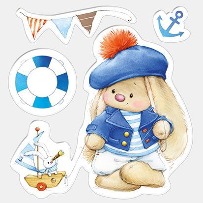 Set of stamps 10,5*10,5cm Bunny - Sailor