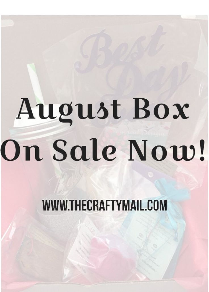 Handmade Subscription Box ~ August - pinned by pin4etsy.com