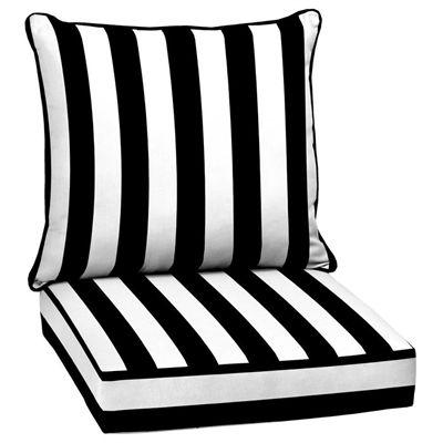 Garden Treasures 2-Piece Cabana Deep-Seating Cushion Set