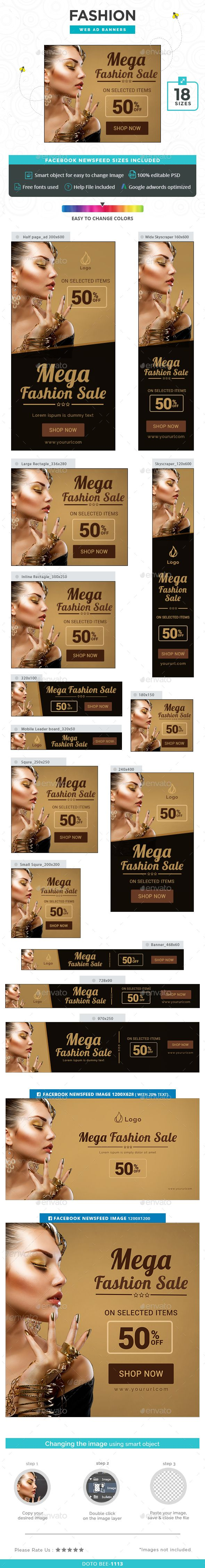 Fashion Sale Banners — Photoshop PSD #sale #banner set • Available here → https://graphicriver.net/item/fashion-sale-banners/14637699?ref=pxcr