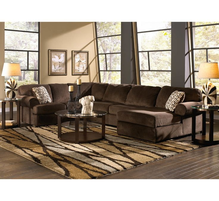 Best Calvin Sectional W 2 Pillows Badcock More Living Room 400 x 300