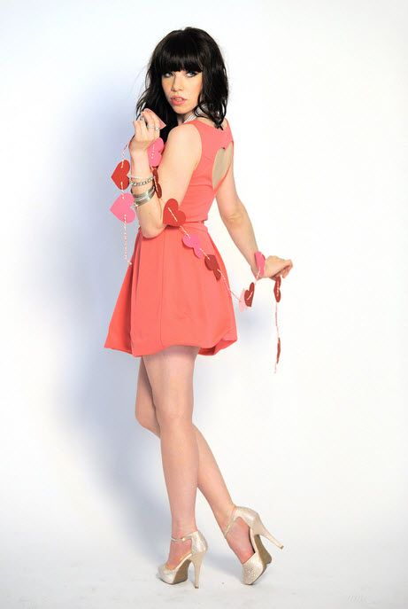 Carly Rae Jepsen for Candie's Spring 2013 in heart dress