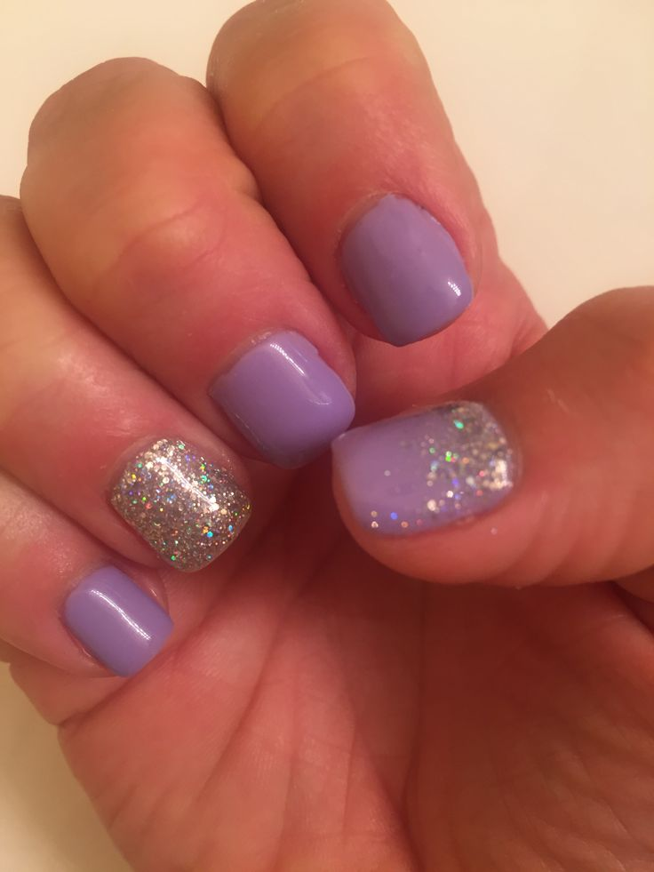 Lavender purple lilac nails mani shellac gel