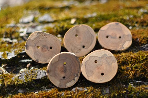 Handmade Spalted Cherry Buttons Set of 5 by TimberWoodsWares, $8.25Spalted Cherries, Buttons Sets, Handmade Spalted, Cherries Buttons