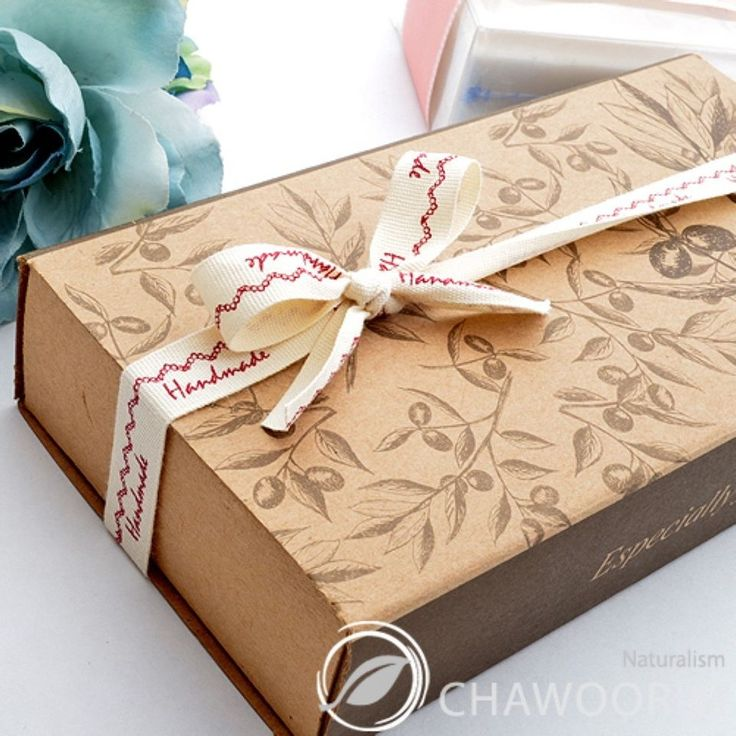 "100 Gift Boxes Soap Boxes Olive2 Kraft Paper Boxes W6.7""xL3.5""xH1.4"""