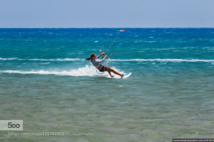 Greece. Rhodes. Beach Prasonisi. A paradise for surfers and adventure lovers!