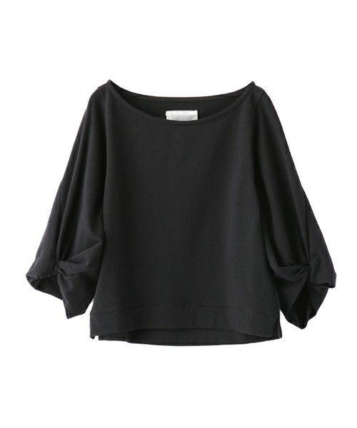 The Virgnia(ザ ヴァージニア)の【AW先行予約】ポンチボリュームスリーブプルオーバー(Tシャツ/カットソー)|ブラック