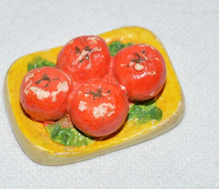 VINTAGE KAYBOT DOLLSHOUSE PLASTER FOOD FRUIT ON PLATE   eBay