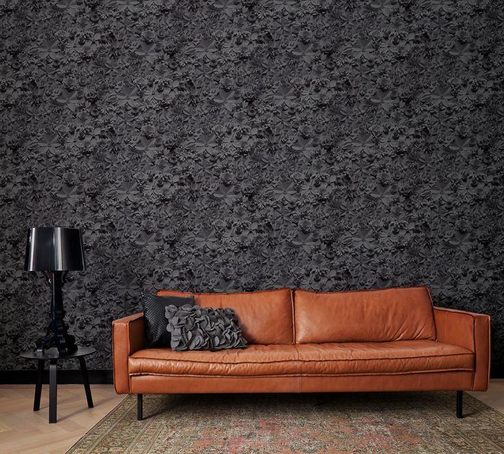 Zwart 3D Behang / Black 3D Wallpaper collection Moods BN