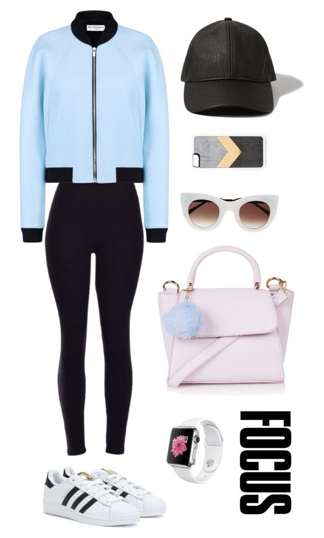 """KILLING IT!"" by antonielapinabatista on Polyvore featuring Topshop, Abercrombie & Fitch, Balenciaga, adidas, Zero Gravity, Thierry Lasry, women's clothing, women's fashion, women and female"