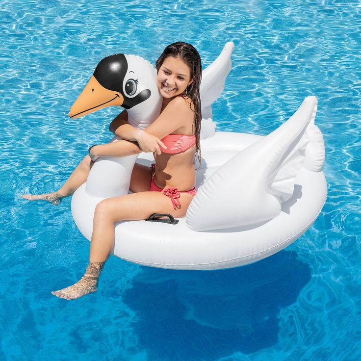 $8.99 Intex Inflatable Swan Ride On Float - Walmart.com