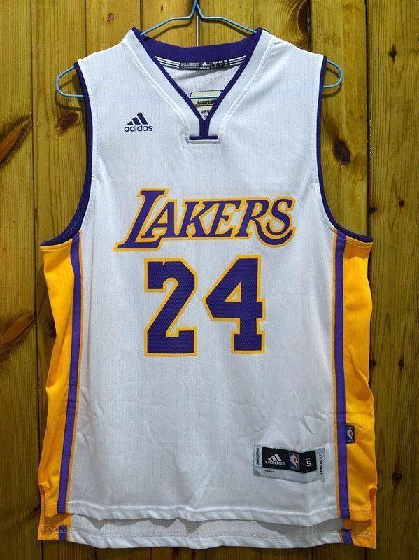Men 24 Kobe Bryant Jersey White Los Angeles Lakers Swingman Jersey ...