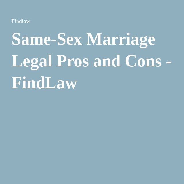 Essay on same sex marriage