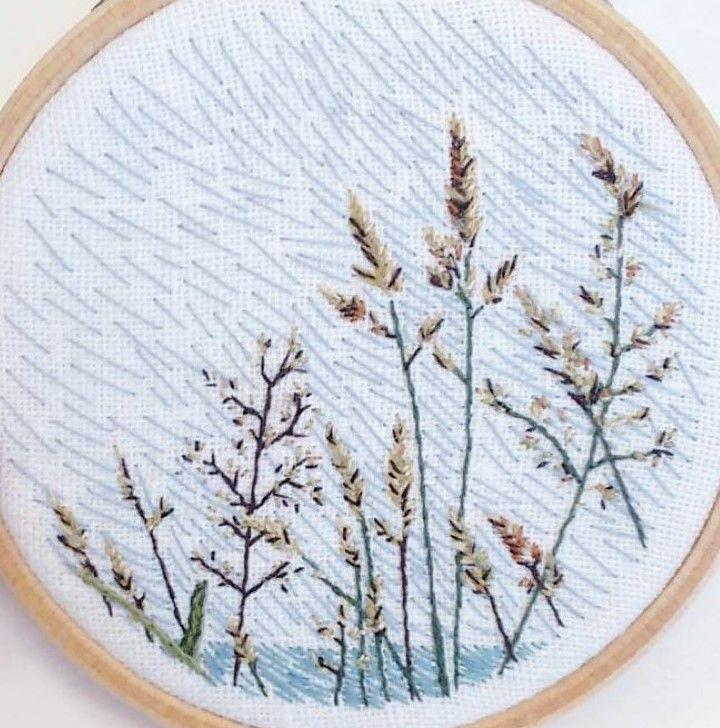 I like the idea of subtle embroidery to represent rain or wind