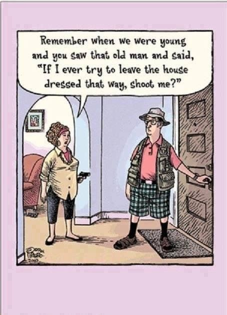 humor senior boomer old man shoot me leave the house wife and husband funny