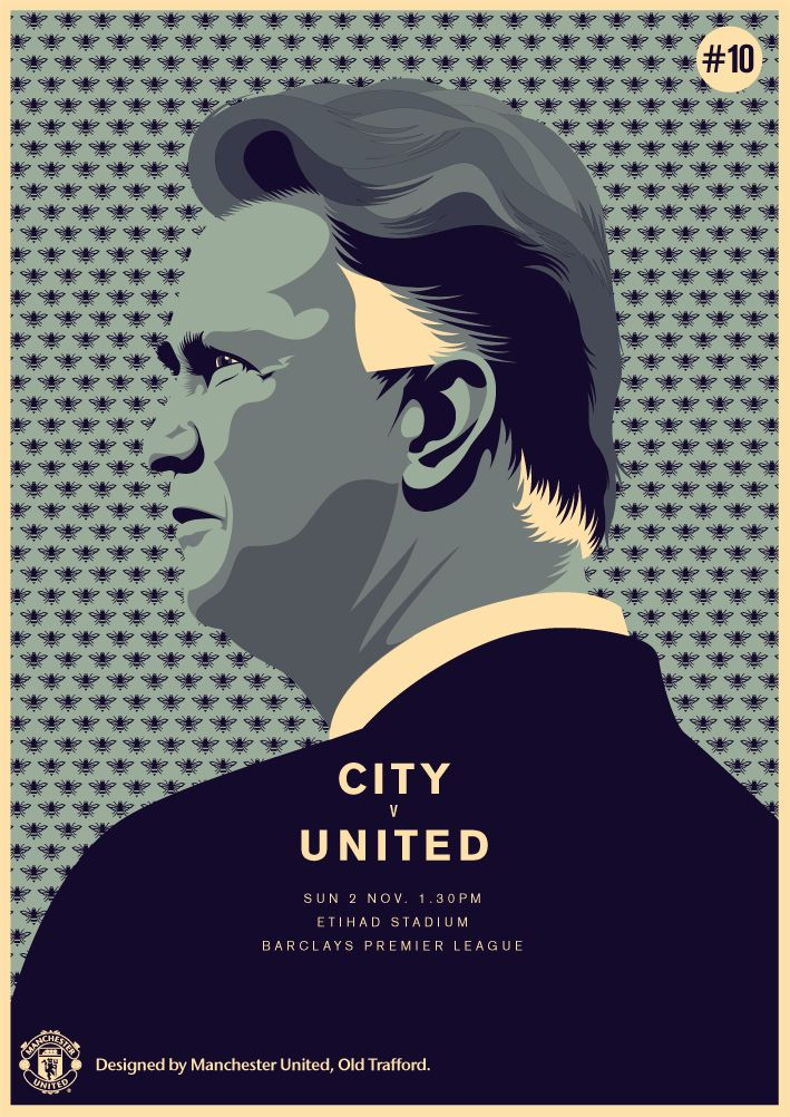 Match poster. Manchester City vs Manchester United, 2 November 2014. Designed by @manutd.
