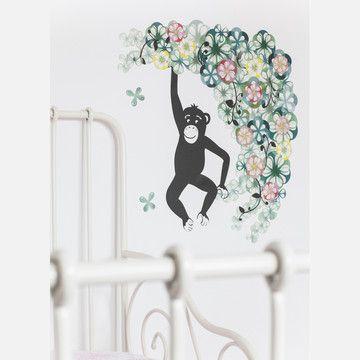 Textilsticker Monkey M, 48€, jetzt auf Fab.