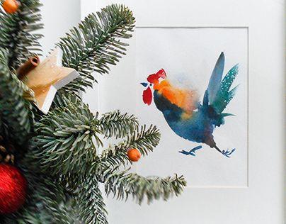 "Check out new work on my @Behance portfolio: ""Новогодние петушки"" http://be.net/gallery/54668471/novogodnie-petushki"