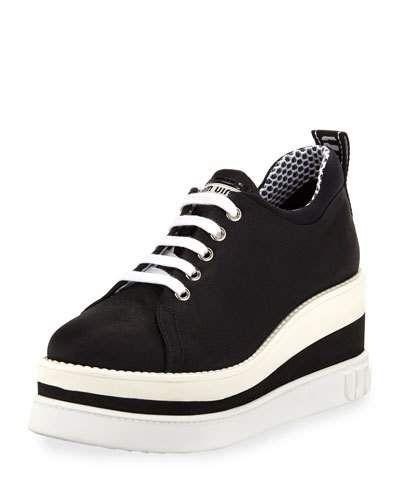 ab7af10c278 Miu Miu Nylon-Tech Platform Sneakers