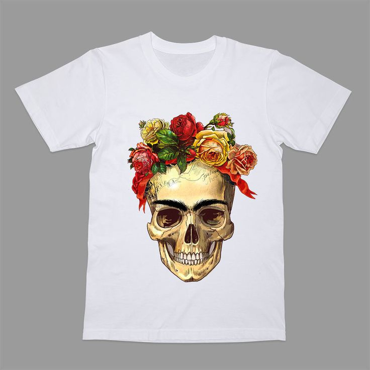 Mort de Frida Kahlo Shirt tête de mort T-shirt Portret Tee dessin Tshirt T Flowers par RebellionShop sur Etsy https://www.etsy.com/fr/listing/478813526/mort-de-frida-kahlo-shirt-tete-de-mort-t