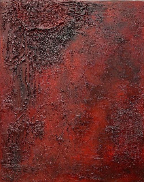 EXIT –  -strukturální olejomalba na plátně -structural oil painting on canvas 40 x 50 cm