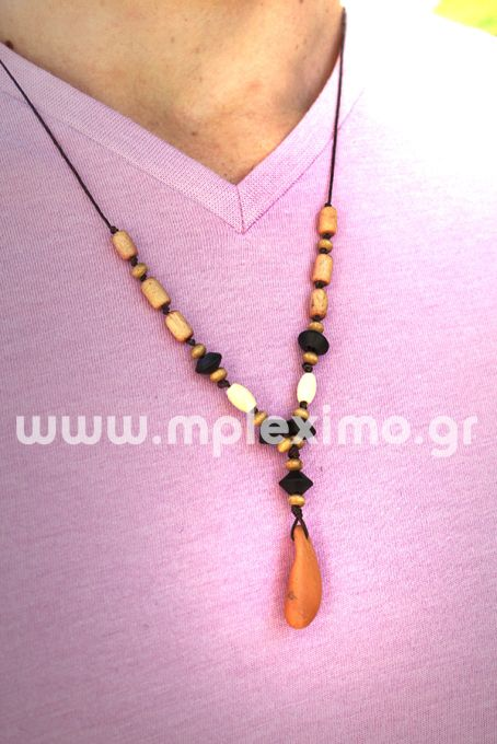 macrame mens  necklace