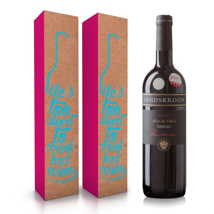 Mooie cadeauverpakking voor je wijn www.vanbirwijnplezier.nl