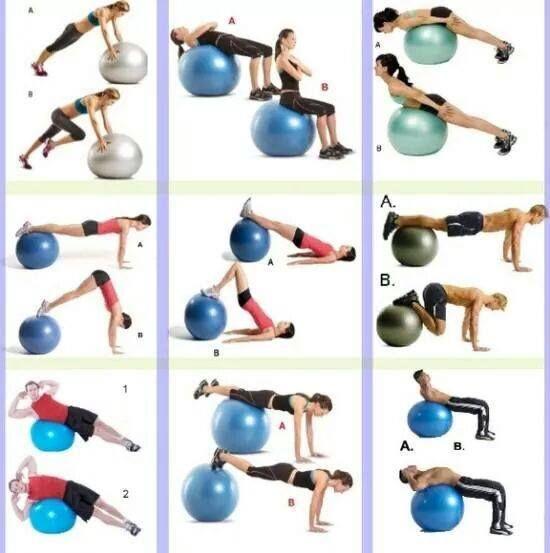 Exercice avec ballon