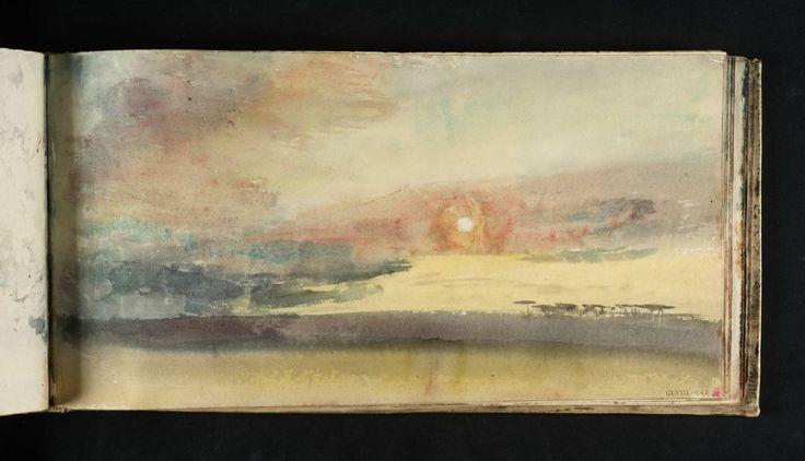 J.M.W. Turner, Study of Sky, from Skies Sketchbook, watercolor on paper, c.1816-18, Tate Museum, U.K.
