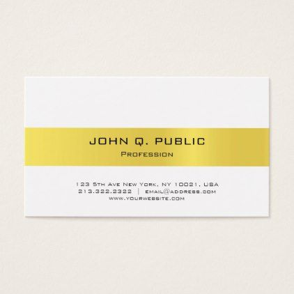 Jewellery Shop Seller Modern Sleek Elegant Gold Business Card - real estate gifts business cyo diy customize