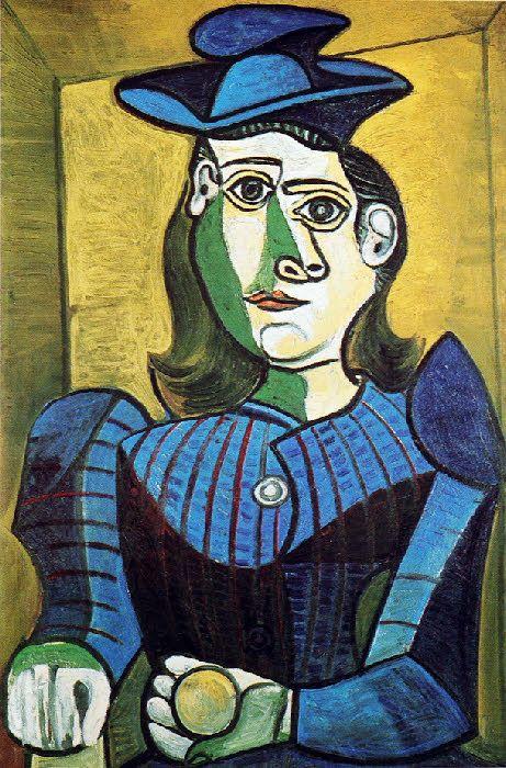 Picasso: Femme au chapeau bleu (1944)
