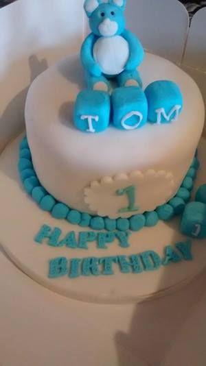 baby boy birthday cake first