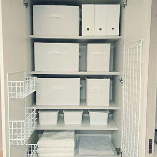 ニトリ×脱衣所収納棚のインテリア実例 | RoomClip (ルームクリップ) My Shelf/脱衣所/ニトリ/セリア/ランドリー/収納棚/脱衣