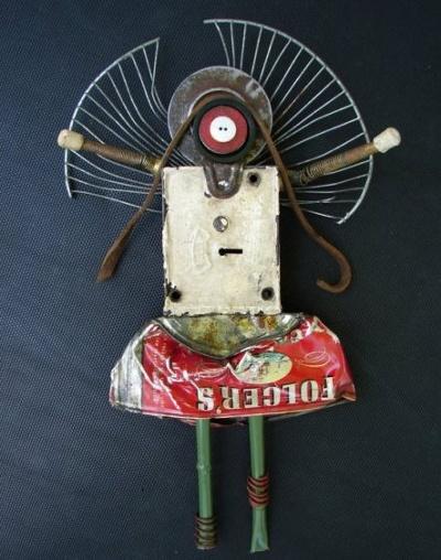 recycle art: Lemon Studios, Angel Robots, Assemblages Art, Art Inside, Robots Art, Art Founding Object, Altered Art, Recycled Art, Crafts